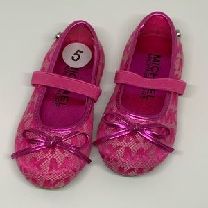 Michael MK pink Mary Janes flats SZ 5 toddler NWOT